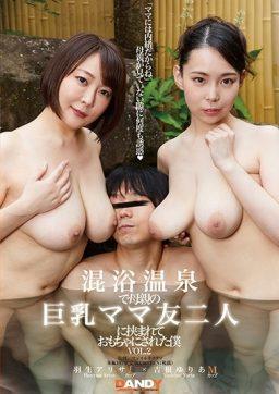 DANDY 733 256x362 - [DANDY-733] 混浴温泉で母親の巨乳ママ友二人に挟まれておもちゃにされた僕 VOL.2 パイズリ 痴女 小峰ひなた Yoshine Yuria 巨乳