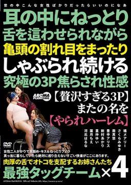 ARM 918 256x362 - [ARM-918] 耳の中にねっとり舌を這わせられながら亀頭の割れ目をまったりしゃぶられ続ける究極の3P焦らされ性感 3P、4P Kadowaki Shigeo Tachibana Mary Aroma Kikaku フェラ